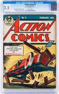 Golden Age (1938-1955):Superhero, Action Comics #9 (DC, 1939) CGC GD+ 2.5 Brittle pages....