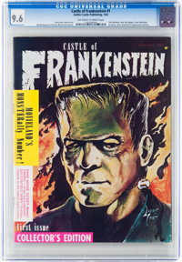 Castle of Frankenstein #1 (Gothic Castle Printing, 1962) CGC NM+ 9.6 Off-white to white pages