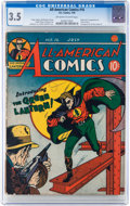 Golden Age (1938-1955):Superhero, All-American Comics #16 (DC, 1940) CGC VG- 3.5 Off-white to white pages....
