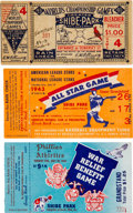 Baseball Collectibles:Tickets, 1931 World Series, 1943 All-Star Game & 1945 War Relief GameTicket Stubs Lot of 3....