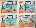 """Movie Posters:Animation, Pecos Bill (RKO, R-1954). Lobby Card Set of 4 (11"""" X 14""""). Animation.. ... (Total: 4 Items)"""