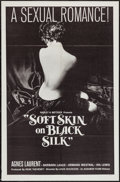 "Movie Posters:Sexploitation, Soft Skin on Black Silk (Audubon, 1963). One Sheet (27"" X 41"")& Lobby Card Set of 4 (11"" X 14""). Sexploitation.. ... (Total:5 Items)"