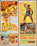 """Movie Posters:Action, Hercules Unchained & Other Lot (Warner Brothers, 1959). Inserts(2) (14"""" X 36""""). Action.. ... (Total: 2 Items)"""