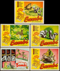 "Movie Posters:Animation, Bambi (RKO, R-1948). Title Lobby Card & Lobby Cards (4) (11"" X14""). Animation.. ... (Total: 5 Items)"