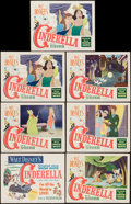"""Movie Posters:Animation, Cinderella (RKO, 1950). Title Lobby Card & Lobby Cards (6) (11"""" X 14""""). Animation.. ... (Total: 7 Items)"""