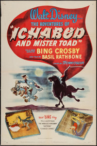 "The Adventures of Ichabod and Mr. Toad (RKO, 1949). One Sheet (27"" X 41""). Animation"