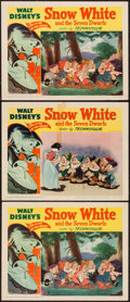 """Movie Posters:Animation, Snow White and the Seven Dwarfs (RKO, R-1951). Lobby Cards (3) (11"""" X 14""""). Animation.. ... (Total: 3 Items)"""