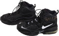 Basketball Collectibles:Others, 1990's Patrick Ewing Game Worn Signed Shoes. ...