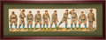 Baseball Collectibles:Others, 1888 Boston Beaneaters Paper Dolls Uncut Sheet from McLoughlinBros....