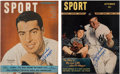 Autographs:Others, 1946-49 Joe DiMaggio Signed Sport Magazines Lot of 2. ...