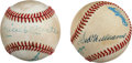 Autographs:Baseballs, Circa 1980 DiMaggio, Williams & Mantle Dual-Signed BaseballsLot of 2....