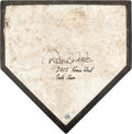 Baseball Collectibles:Others, 2005 Derek Jeter Signed Game Used New York Yankees Home Plate....