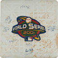 Baseball Collectibles:Others, 2001 Derek Jeter, Mariano Rivera, Roger Clemens & More Signed Game Used World Series Base....