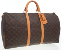 Louis Vuitton Classic Monogram Canvas Keepall 55 Weekender Overnight Bag