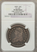 Bust Half Dollars: , 1809 50C -- Obv Scratched -- NGC Details. VF. O-105. NGC Census: (18/481). PCGS Population (25/595). Numismedia Wsl. Pric...