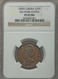 Liberia, Liberia: Republic Proof Pattern Cent in copper 1890-E PR63 BrownNGC,...