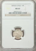 Chile, Chile: Republic 10 Centavos 1896-So MS65 NGC,...
