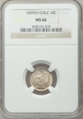 Chile, Chile: Republic 10 Centavos 1899-So MS66 NGC,...