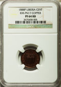 Liberia, Liberia: Republic Proof Pattern Cent in copper 1888-P PR64 Red andBrown NGC,...