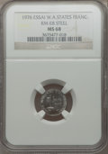 West African States, West African States: French Federation Essai 1 Franc in steel 1976 MS68 NGC,...