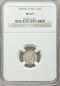 Chile, Chile: Republic 1/2 Decimo 1892-So MS65 NGC,...