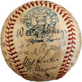 Autographs:Baseballs, 1934 Cleveland Indians Team Signed Baseball with Walter Johnson....