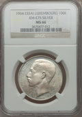 Luxembourg, Luxembourg: Jean Essai 100 Francs in silver 1964 MS66 NGC,...
