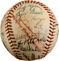 Autographs:Baseballs, 1957 Cleveland Indians Team Signed Baseball with Rookie Year RogerMaris....