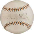 "Autographs:Baseballs, Circa 1930 Babe Ruth Single Signed ""Babe Ruth Home Run Special""Baseball with Box...."