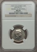 Colombia, Colombia: Republic Pattern 50 Centavos in nickel clad steel 1969MS64 NGC,...