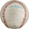 Baseball Collectibles:Balls, 1960 New York Yankees Team Signed Baseball With Two Roger MarisSignatures. ...