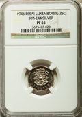Luxembourg, Luxembourg: Charlotte Proof Essai 25 Centimes in silver 1946 PR66NGC,...