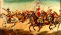 Books:Original Art, [Original Art]. Artist Unknown. Original Acrylic Painting of The Battle of Monmouth, New Jersey in 1778. Used in the August ...