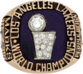 Basketball Collectibles:Others, 1985 Los Angeles Lakers NBA Championship Ring. ...