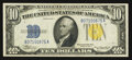 Small Size:World War II Emergency Notes, Fr. 2309 $10 1934A North Africa Silver Certificate. About Uncirculated.. ...