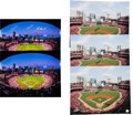 Autographs:Photos, 2011 Stan Musial, Albert Pujols, Lou Brock, Jim Edmonds &Others Signed Oversized Stadium Photographs Lot of 5....