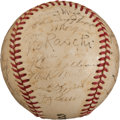 Autographs:Baseballs, 1952 New York Yankees Team Signed Baseball. ...