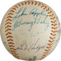 Autographs:Baseballs, 1966 Old Timer's Game Multi Signed Baseball. ...