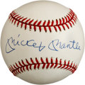 Autographs:Baseballs, Circa 1990 Mickey Mantle Single Signed Baseball, PSA/DNA NM-MT+8.5....