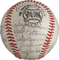 Baseball Collectibles:Balls, 1968 Detroit Tigers Team Signed Baseball. ...