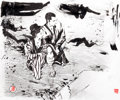 Original Comic Art:Covers, Paul Pope Zatoichi: The Blind Swordsman, The Tale of ZatoichiContinues DVD Cover Original Art (Criterion, undated...
