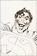 Original Comic Art:Splash Pages, John Byrne Superman #9 Cover Original Art Signed by JohnByrne (DC, 1987)....