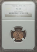 Philippines, Philippines: USA Administration 10 Centavos 1903 MS65 NGC,...