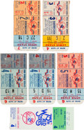 Baseball Collectibles:Tickets, 1952-78 New York Yankees World Series Ticket Stubs Lot of 6....