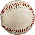 Autographs:Baseballs, 1935 Lou Gehrig, Jimmie Foxx & Others Signed All-StarBaseball....