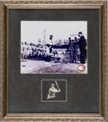 Autographs:Others, 1930's Lou Gehrig Signed Cut Signature Display....