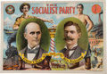 Political:Posters & Broadsides (1896-present), Debs & Hanford: 1904 Official Socialist Party Jugate Poster....