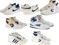 Basketball Collectibles:Others, 1980's-90's Detroit Pistons Greats Game Worn, Signed Shoes Lot of 7....