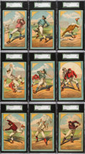 Baseball Cards:Sets, 1882 Cosack & Co. Baseball Positions Complete Set (9) - #2 on the SGC Set Registry. ...
