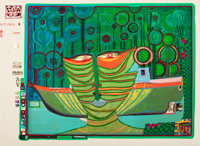 FRIEDENSREICH HUNDERTWASSER (Austrian, 1928-2000) Regentag- Look at it on a rainy day (ten works), 1971